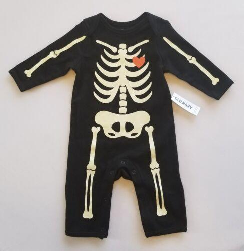 NWT Old Navy Baby Skeleton Glow In The Dark One Piece▪Unisex 3-6 M
