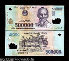 VIETNAM 500,000 DONG P124 2012 Half Million VND POLYMER UNC 500000 MONEY NOTE