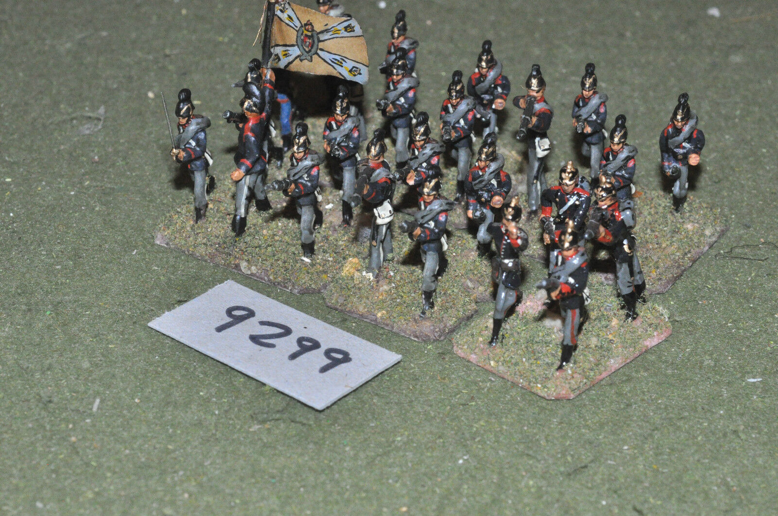 25mm 19th century   franco prussian -  infantry 24 figs metal - inf (9299)