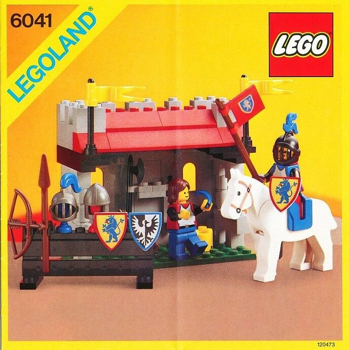 Lego Classic Castle 6041 Armor Shop NEW SEALED 1986' Lion Knights LEGOLAND