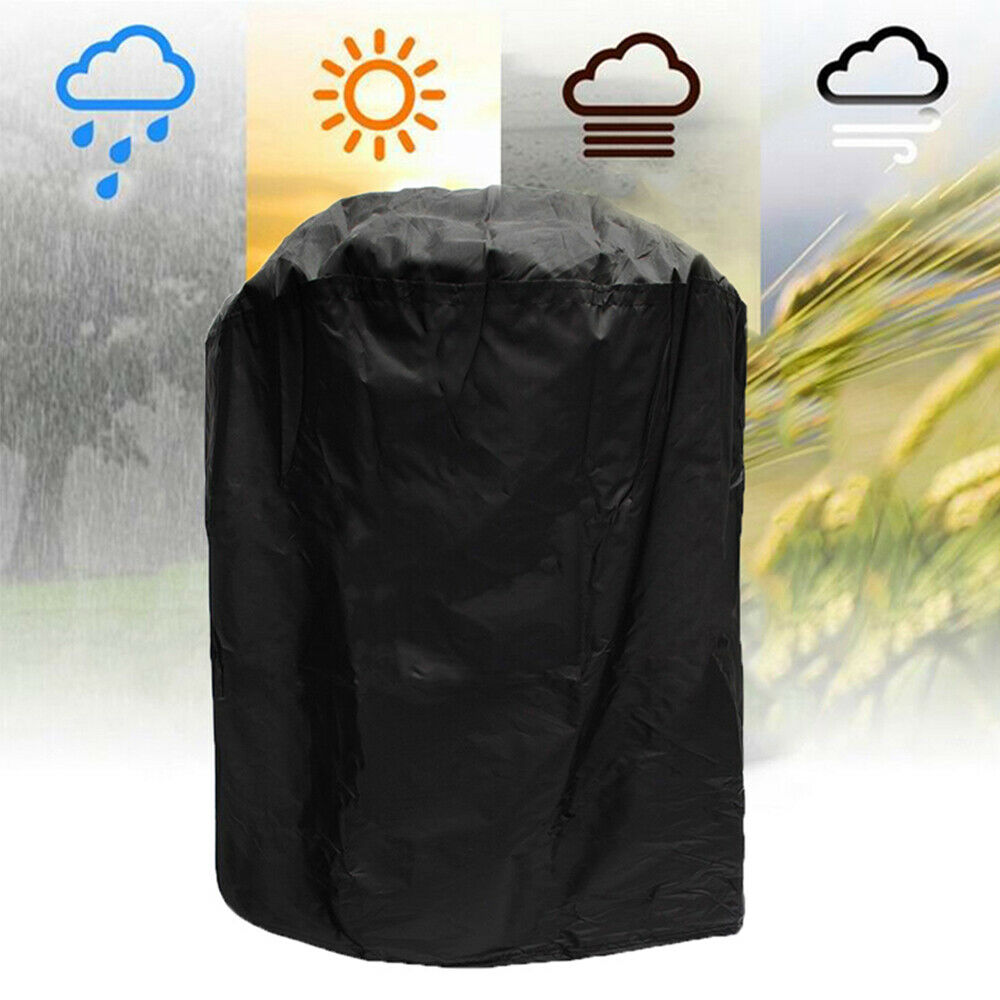 Black Dome Smoker Cover Vertical Round BBQ Grill Waterproof Closure Protecti