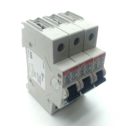 K Curve 240V 20A 50//60Hz Single Pole Lot of 3 ABB S201U-K20 Circuit Breaker