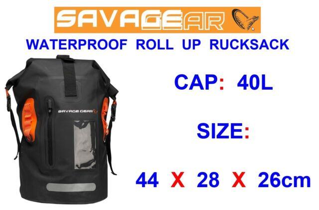 Savage Gear Waterproof Rollup Rucksack 40L