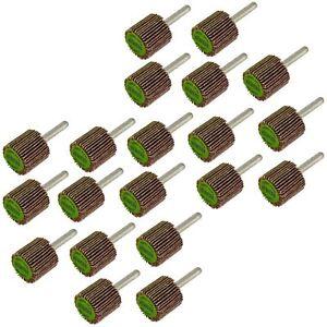 Flap-disque-de-roue-arbre-monte-abrasif-poncage-perceuse-25mm-40-amp-80-grit-20PK