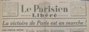 Exceptionnel-Journal-LE-PARISIEN-LIBERE-N-1-22-aout-1944