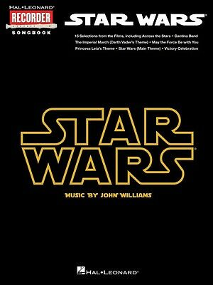 Wind & Woodwinds Star Wars Hal Leonard Recorder Songbook Recorder Book New 000110292 Dependable Performance