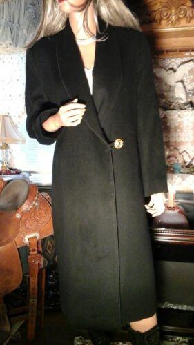 I. Magnin Fleurette Vtg 80s Rich Black Luxurious
