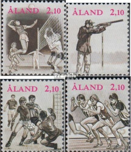 FinlandAland 4750 complete issue unmounted mint never hinged 1991 Sports G