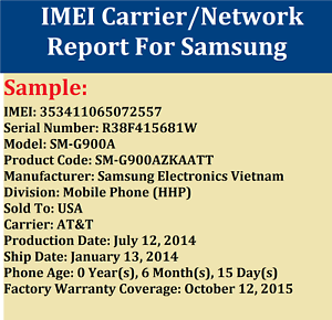 Details about Instant Fast imei SIM LOCK CARRIER NETWORK CHECK FOR SAMSUNG  WORLDWIDE SERVICE