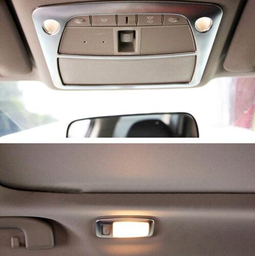Matte Front /& Rear Reading Light Lamp Cover Trim 3pcs for Nissan Rogue 2014-2019