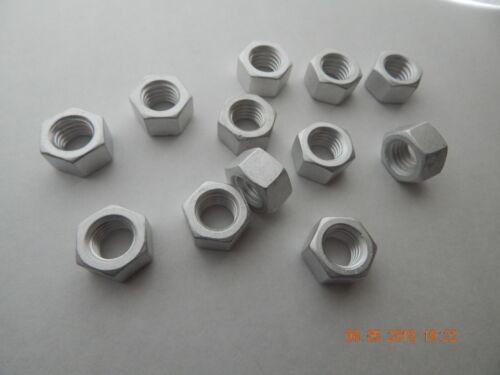 ALUMINUM HEX NUTS 1//2-13  12 PCS NEW