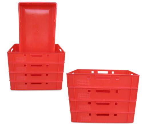 Vorratsbox Stapelbox rot Transportkiste Eurokiste 9 x E1 Eurofleischkiste