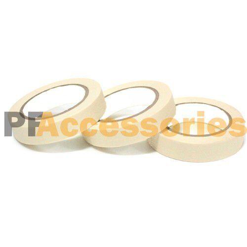 "3 Rolls 60 FT General Purpose Masking Tape 0.7/"" inch Adhesive Ivory White LOT"