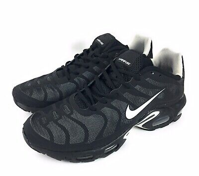 popular brand detailed images 100% quality Nike Air Max Plus TN Leather Cool Grey Metallic Silver Black Mens ...