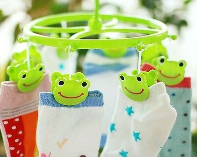 Cute! Clothes Pin Airer Peg laundry Dryer Rack Clip Frog/Bear/Pig Ramdom Sent