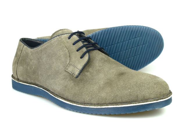 Silver Street Lombard Mens Navy Suede Casual Brogue Shoes RRP £60 Free UK P/&P!