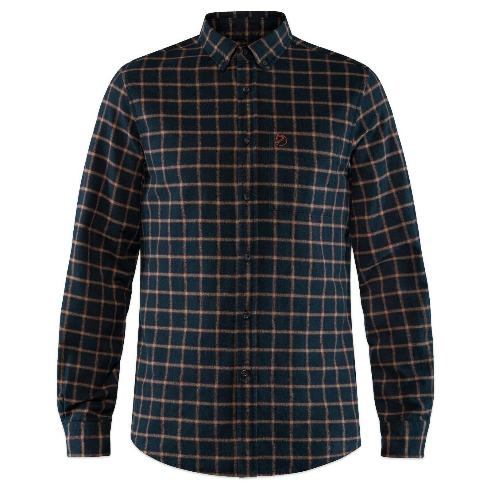 Fjallraven Shirts - Fjallraven Ovik Flannel Long Sleeve Check Shirt - Dark Navy