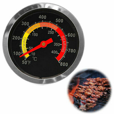 BBQ Smoker Grill Stainless Steel Thermometer Temperature Gauge 50-400℃ Q1N5