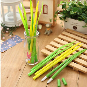 5Pcs-Fashion-Cute-Colorful-Grass-Leaf-Ball-Pen-Office-School-Supply-Stationery