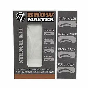 W7-Brow-Master-Eyebrow-Stencil-Kit-Shaping-Defining-4-Arch-Make-Up-Templates