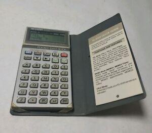 Vintage-SHARP-EL-6120-Pocket-Data-Book-Calculator-Memo-Phonebook-Works