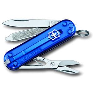 Victorinox-Taschenmesser-CLASSIC-transparent-blau-mit-kostenloser-Gravur
