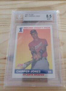 1991 Score #671 Chipper Jones BGS 8.5 NM-MT+ Atlanta Braves RC Rookie HOF