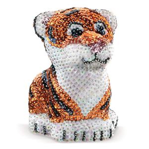 Sequin Art 3D polystyrene Tiger shimmering Sparkling Arts and Crafts Kit New