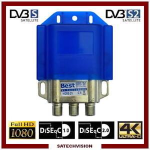 Commutateur DiSEqC 2//1 Option EMP Centauri 2 Entrées LNB 1 Sortie HD 3D 4K