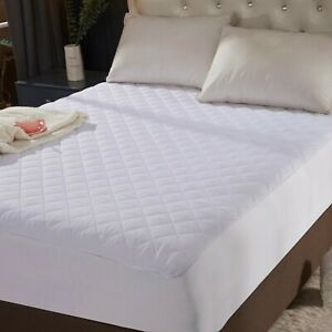 Queen-Size-Quilted-Mattress-Protector-Pad-Topper-Cover-16-034-Deep-Fitted-Bed-Sheet