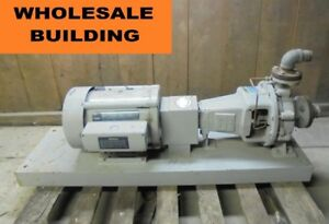 Details about INGERSOLL RAND CENTRIFUGAL PUMP HC 2X1 5X8-C , GE 10 HP MOTOR  5KW215BD105A