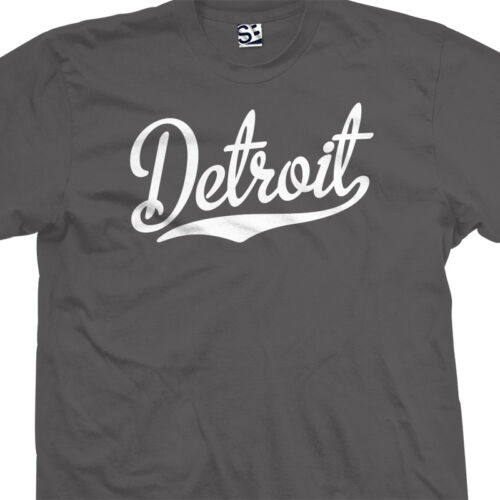 All Star Sports Team Jersey Tee All Sizes /& Colors Detroit Script Tail T-Shirt