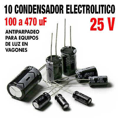 10 X 100μF 25V Condensadores Electrolíticos-componente electrónico