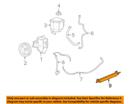 CHRYSLER OEM Steering-Power Steering Cooler Retainer Assembly 5137778AC