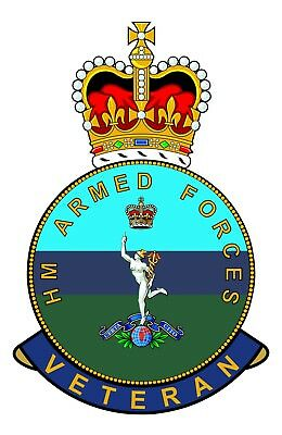 Classic HM Armed Forces RCT Royal Corps Of Transport Veterans specific Sticker