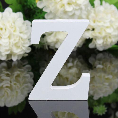 A-Z Form Alphabet Weiß Holz Buchstaben Hochzeitsfest Zuhause Aufsteller Deko NEU