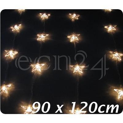Lichterkette Vorhanglichterkette mit Sternen 120 x 90cm