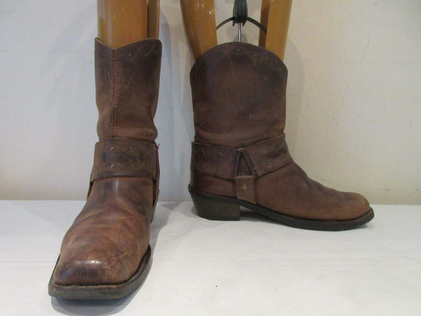 VINTAGE DOLCIS BROWN LEATHER WESTERN PULL ON BOOTS UK 7 (3658)