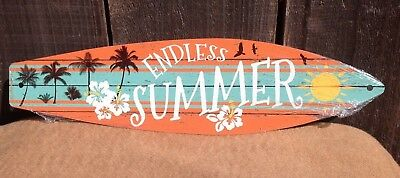 "Red Orange Tribal Design Mini Novelty Beach Surf Board Sign 17/"" x 4.5/"""
