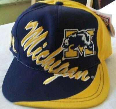 N.O.S VTG Vintage Snapback Cap Michigan Wolverines College old school cap 90/'s