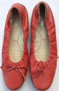 Flats L 5 Dull Leather Elastic 5 Ballet Italy Sides Uk5 Soft A Red Eu38 Ross 8rqR8