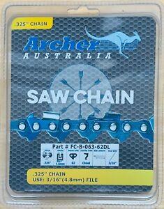 16-034-Archer-Chainsaw-Chain-325-pitch-CHISEL-063-62DL-STIHL-025-MS250-MS251