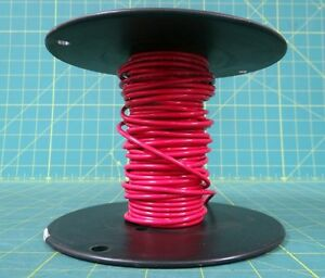 Awm 12 gauge red stranded copper wire partial reel approx 25 image is loading awm 12 gauge red stranded copper wire partial greentooth Image collections