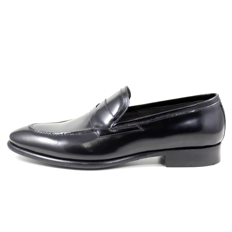 GIORGIO REA mocassini vera pelle scarpe uomo fatte a mano chaussures homme 07357