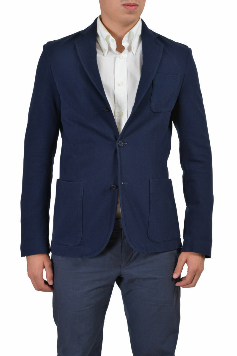 Ballantyne Men's bluee Three Button Sport Coat Blazer US 36 42 44