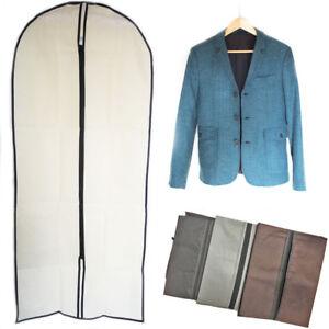 Garment-Bag-Dress-Suit-Cover-Coat-Breathable-Protector-Zip-Carrier-Travel-60x90c