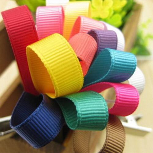 GROSGRAIN PLAIN TYING RIBBON 10mm Hair Craft Decor Trim Solid Colours 45m Roll