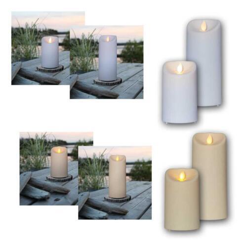 bewegte Flamme /& Timer für Outdoor Garten flackernde LED Außen-Kerze M-TWINKLE