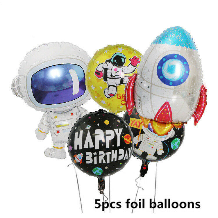 5pcs Random Foil Balloons Cartoon Style Baby Birthday Decoration Party Supplies