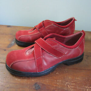 2a78d6904d290 Earth Shoes Drew women s oxford leather suede red US 6 EU 37.5 hook ...